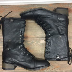 Steve Madden Parto Holdover Combat Boots Size 7.5
